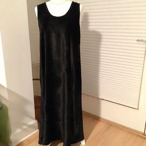 CP Shades Long Velvet Shift Dress, sz S